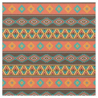 Tecido Listras tribais geométricas do tom da terra