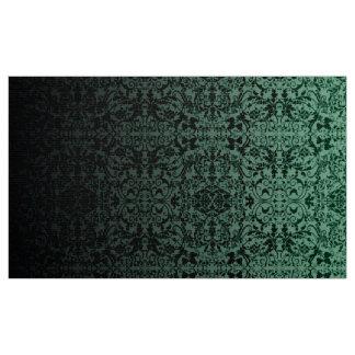 Tecido LOPc verde/preto do damasco de Ombre