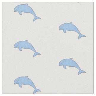 Tecido Luz do vintage - golfinhos azuis
