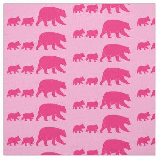 Tecido Mama Carregamento e Cubs no rosa