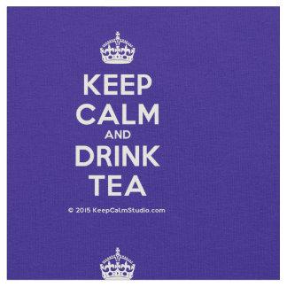 Tecido Mantenha chá calmo e da bebida