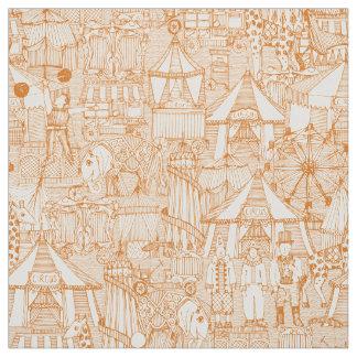 Tecido marfim retro da laranja do circo