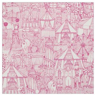 Tecido marfim retro do rosa do circo
