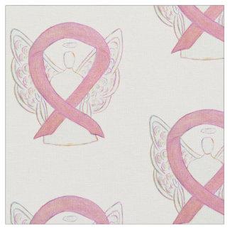 Tecido Material cor-de-rosa do anjo da fita da