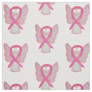 Tecido Material cor-de-rosa do anjo do cancro da mama da