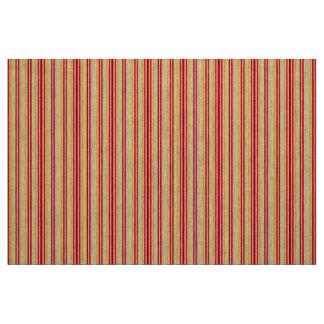 Tecido Material vermelho e amarelo da listra