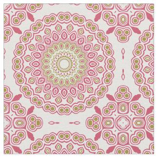 Tecido Medalhão Kaleidoscopic do rosa cor-de-rosa e da