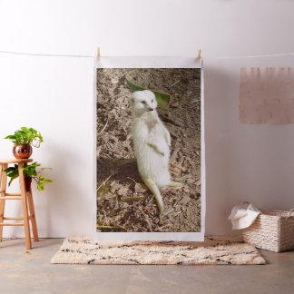 Tecido Meerkat branco macio, material penteado do algodão