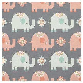 Tecido moderno do berçário do elefante de Boho