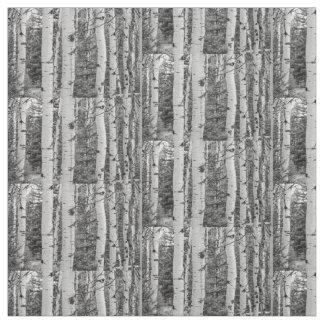 Tecido Monochrome do vidoeiro de prata de Skandi