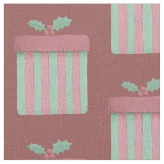 Tecido Morango cor-de-rosa e presente do Natal da hortelã