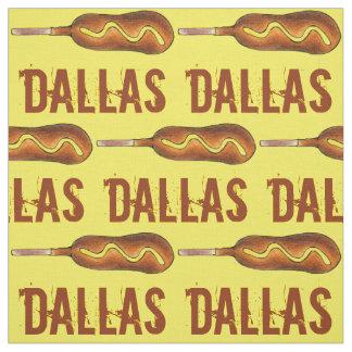 Tecido Mostarda Foodie do cão de milho de Dallas TX Texas