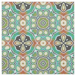 Tecido Motivo ornamentado anca da arte do verde limão