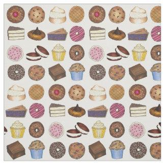 Tecido Muffin da brownie da rosquinha da torta do bolo do