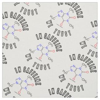 Tecido Na cafeína nós confiamos a química da molécula da