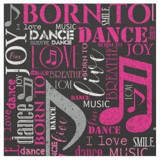 Tecido Nascer para dançar ID277 cor-de-rosa/branco