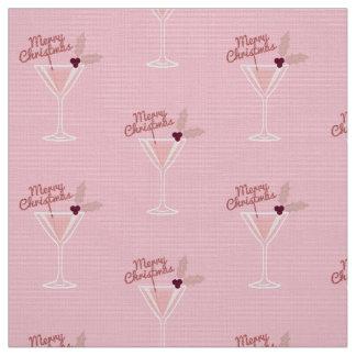 Tecido Natal cor-de-rosa de Martini