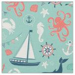 Tecido náutico do farol e do Aqua dos veleiros