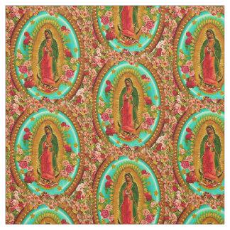 Tecido Nossa Virgem Maria mexicana do santo da senhora