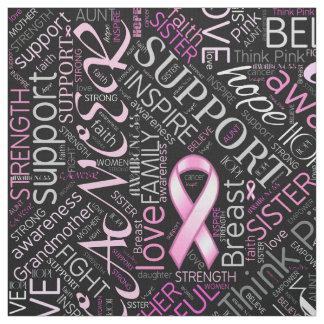 Tecido Nuvem ID261 da palavra da consciência do cancro da