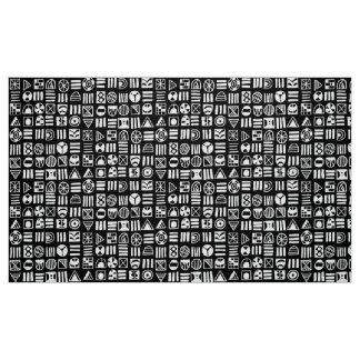 Tecido O abstrato dá forma ao teste padrão 060617
