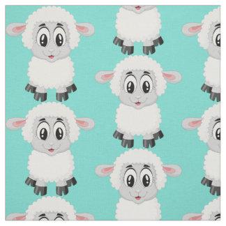 Tecido O bebê animal dos carneiros bonitos caçoa o