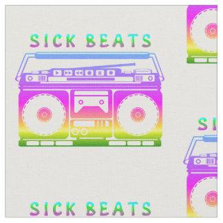 Tecido O doente bate o estéreo do anos 80
