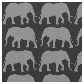 Tecido O elefante africano mostra em silhueta o teste