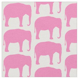Tecido O elefante cor-de-rosa mostra em silhueta o teste