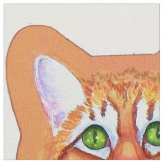 Tecido O gato de gato malhado com ratos da dança descansa
