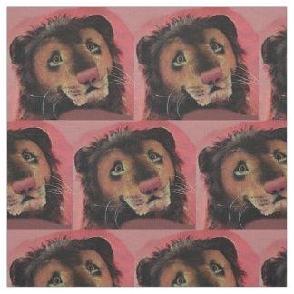 Tecido o impressão principal do leão do brinquedo