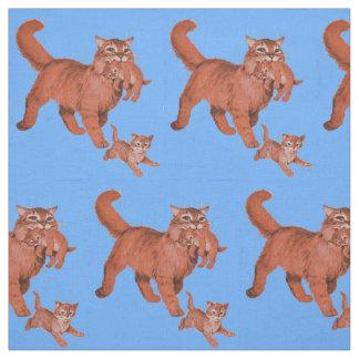 Tecido o mama do gato do gatinho dos anos 50 e os