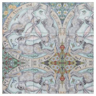Tecido O medalhão da lebre do coelho de quatro estações