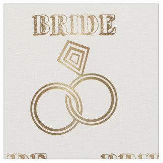 Tecido O ouro ligado soa o casamento da noiva