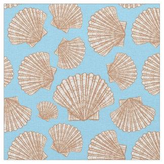 Tecido O teste padrão | do Seashell do estilo do vintage