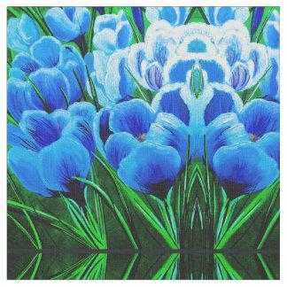 Tecido Obtenção sobre os azuis do inverno