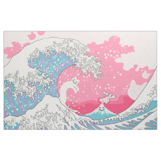 Tecido Onda cor-de-rosa de Psychodelic Bubblegum Kunagawa
