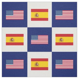 Tecido Os Estados Unidos embandeiram, bandeira da espanha