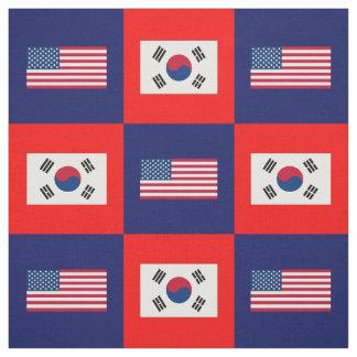 Tecido Os Estados Unidos embandeiram, bandeira de Coreia