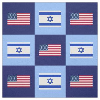 Tecido Os Estados Unidos embandeiram, bandeira de Israel