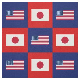 Tecido Os Estados Unidos embandeiram, bandeira de Japão