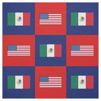 Tecido Os Estados Unidos embandeiram, bandeira de México