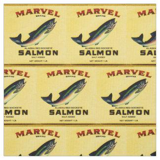 Tecido os salmões da maravilha dos anos 30 podem