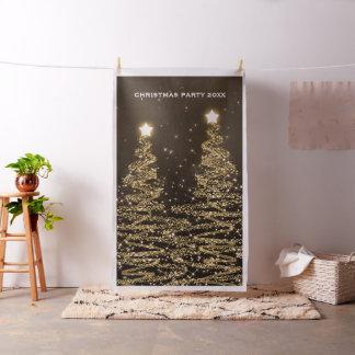 Tecido Ouro das árvores do contexto da cabine da foto da