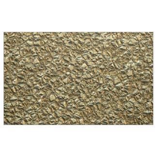 Tecido ouro de pedra irregular