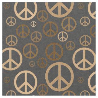 Tecido Ouro dispersado SPST dos sinais de paz