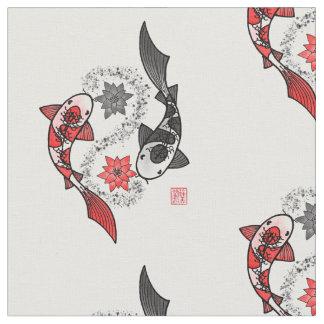 Tecido Pano do motivo de Yin Yang dos peixes de Koi