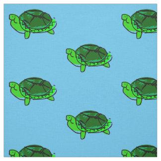 Tecido parvo do Doodle da tartaruga