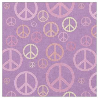 Tecido Pastels dispersados SPST dos sinais de paz