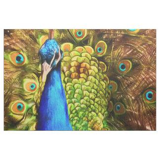 Tecido Pavão colorido